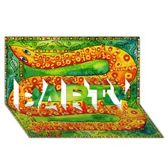 Patterned Snake PARTY 3D Greeting Card (8x4)