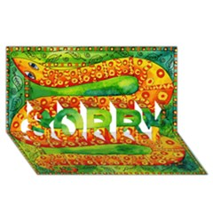 Patterned Snake Sorry 3d Greeting Card (8x4)