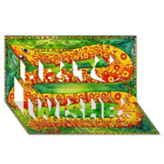 Patterned Snake Best Wish 3d Greeting Card (8x4)