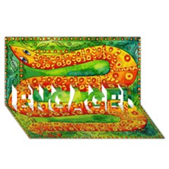 Patterned Snake ENGAGED 3D Greeting Card (8x4)