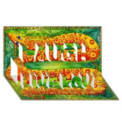 Patterned Snake Laugh Live Love 3D Greeting Card (8x4)