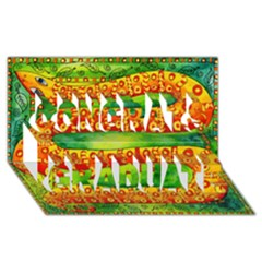Patterned Snake Congrats Graduate 3D Greeting Card (8x4)