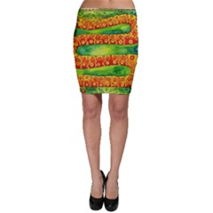 Patterned Snake Bodycon Skirts