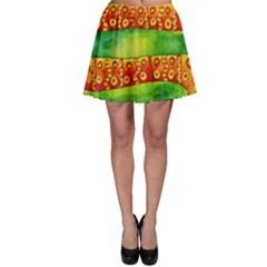 Patterned Snake Skater Skirts