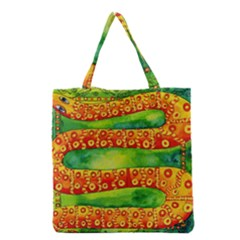Patterned Snake Grocery Tote Bags