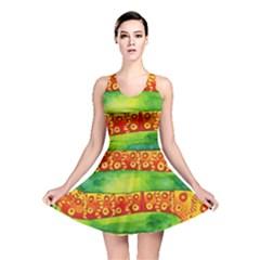 Patterned Snake Reversible Skater Dresses