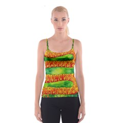 Patterned Snake Spaghetti Strap Tops