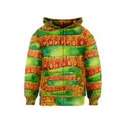Patterned Snake Kids Zipper Hoodies