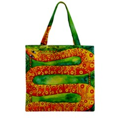 Patterned Snake Zipper Grocery Tote Bags