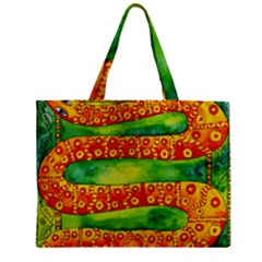 Patterned Snake Zipper Tiny Tote Bags