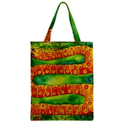 Patterned Snake Zipper Classic Tote Bags