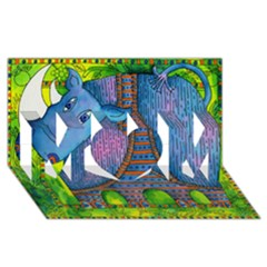 Patterned Rhino MOM 3D Greeting Card (8x4)