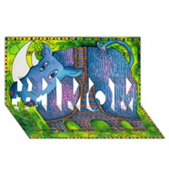 Patterned Rhino #1 Mom 3d Greeting Cards (8x4)