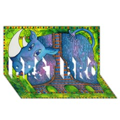 Patterned Rhino Best Bro 3d Greeting Card (8x4)