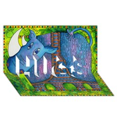 Patterned Rhino HUGS 3D Greeting Card (8x4)