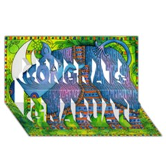 Patterned Rhino Congrats Graduate 3D Greeting Card (8x4)