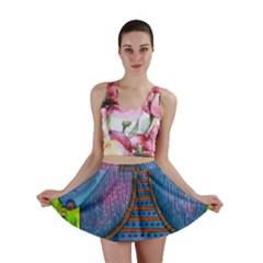 Patterned Rhino Mini Skirts