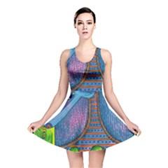Patterned Rhino Reversible Skater Dresses