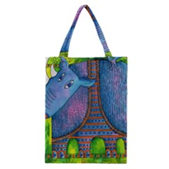 Patterned Rhino Classic Tote Bags