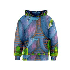 Patterned Rhino Kid s Pullover Hoodies