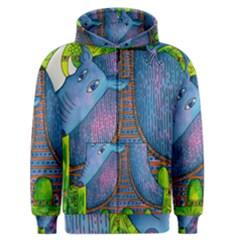 Patterned Rhino Men s Zipper Hoodies