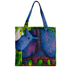 Patterned Rhino Zipper Grocery Tote Bags
