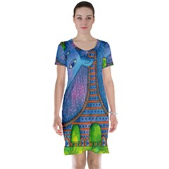 Patterned Rhino Short Sleeve Nightdresses