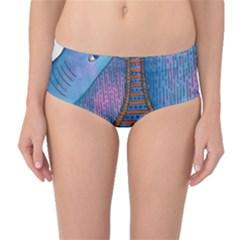 Patterned Rhino Mid-Waist Bikini Bottoms