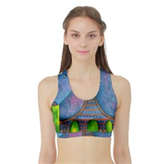Patterned Rhino Women s Sports Bra With Border