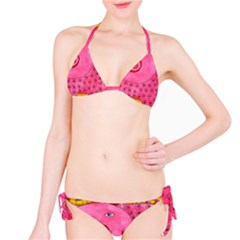 Patterned Pig Bikini Set