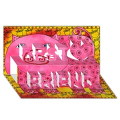 Patterned Pig Best Friends 3d Greeting Card (8x4)