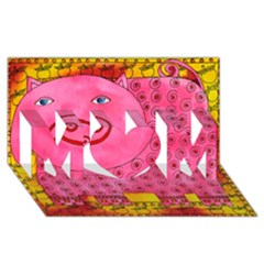 Patterned Pig MOM 3D Greeting Card (8x4)