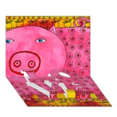 Patterned Pig LOVE Bottom 3D Greeting Card (7x5)