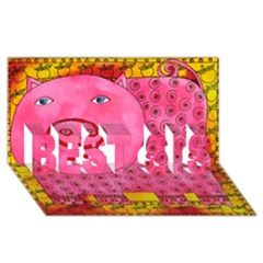 Patterned Pig BEST SIS 3D Greeting Card (8x4)