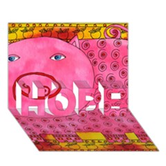 Patterned Pig Hope 3d Greeting Card (7x5)
