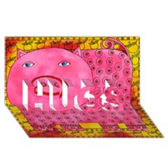 Patterned Pig HUGS 3D Greeting Card (8x4)