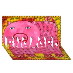 Patterned Pig ENGAGED 3D Greeting Card (8x4)