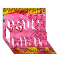 Patterned Pig You Did It 3d Greeting Card (7x5)