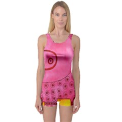 Patterned Pig Women s Boyleg One Piece Swimsuits