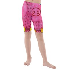 Patterned Pig Kid s Swimwear