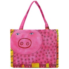 Patterned Pig Tiny Tote Bags