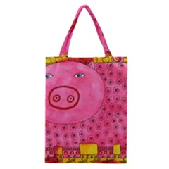 Patterned Pig Classic Tote Bags