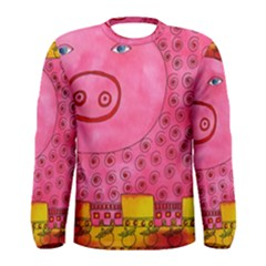 Patterned Pig Men s Long Sleeve T-shirts