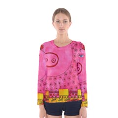 Patterned Pig Women s Long Sleeve T-shirts