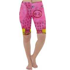 Patterned Pig Cropped Leggings