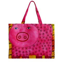 Patterned Pig Zipper Tiny Tote Bags