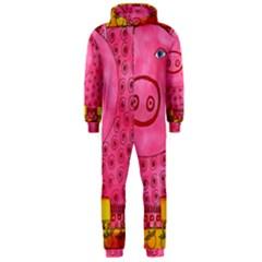Patterned Pig Hooded Jumpsuit (Men)