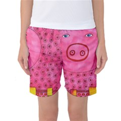 Patterned Pig Women s Basketball Shorts