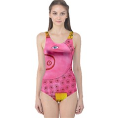 Patterned Pig Women s One Piece Swimsuits