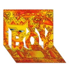 Patterned Lion BOY 3D Greeting Card (7x5)